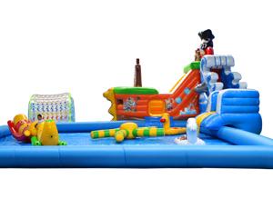 水上乐园-海盗船水滑梯